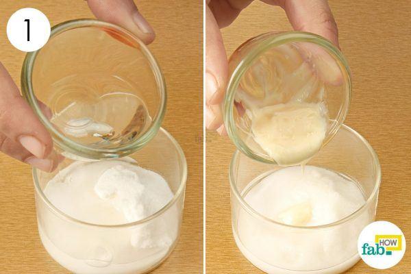 baking soda and facial cleanser to exfoliate yoru skin