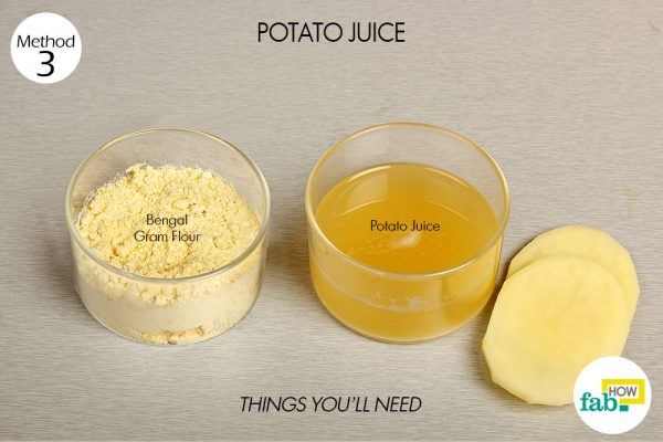 potato juice for facial blemishes