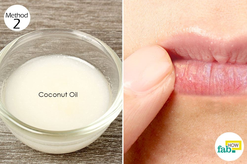 apply coconut oil for chapped lips