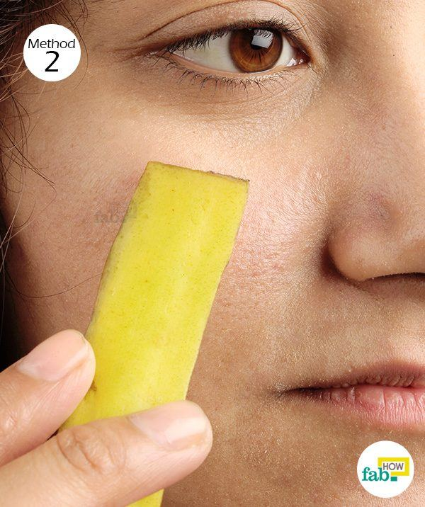 apply banana peel for blemishes