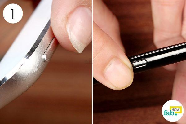 power down your device for cleaning the screen