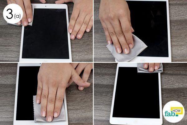 wipe the screen of your iPad