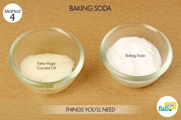 baking soda and coconut oil for glowing skin
