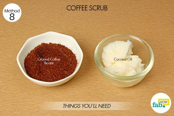 things need coffee and coconut oil for glowing skin