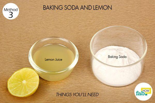 baking soda and lemon for dark underarms