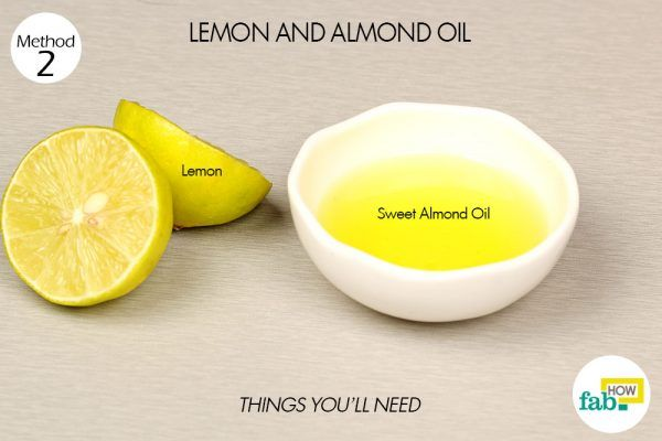 lemon and almond oil for dark lips