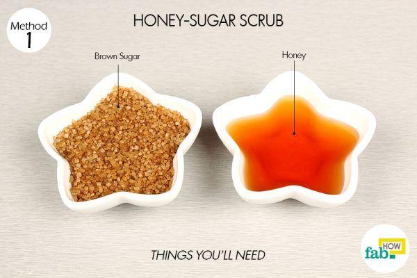 honey-sugar scrub things need