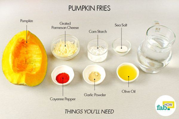 things you need for pumpkin fries