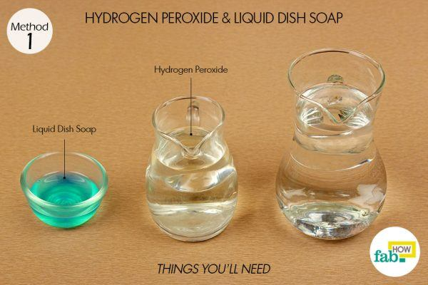 use hydrogen peroxide and dish soap for red wine stains on clothes things need