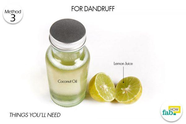 lemon and coconut oil for dandruff things need