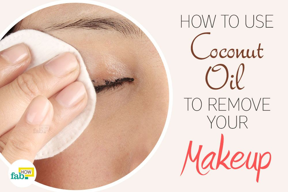 coconut oil to remove makeup