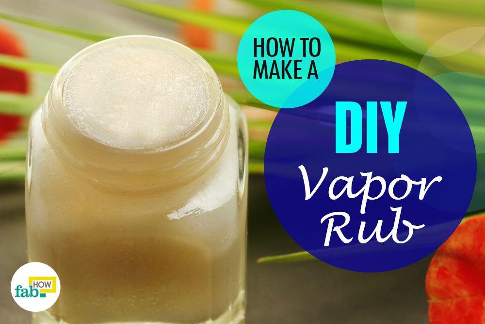 diy vapor rub