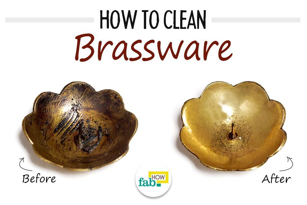 clean brassware