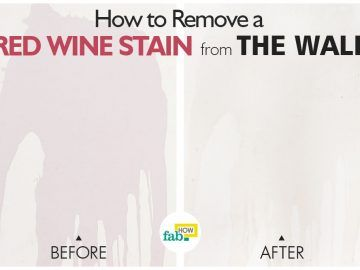 remove red wine stain from wall