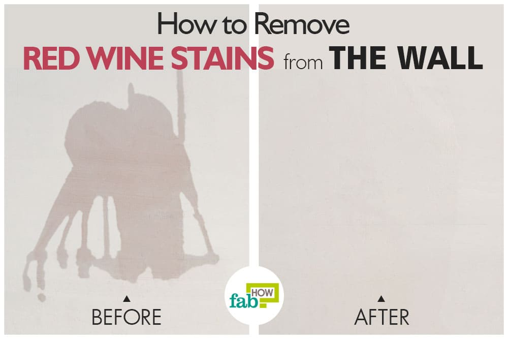 how to clean red wine stain