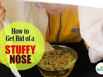 get rid of a stuffy nose