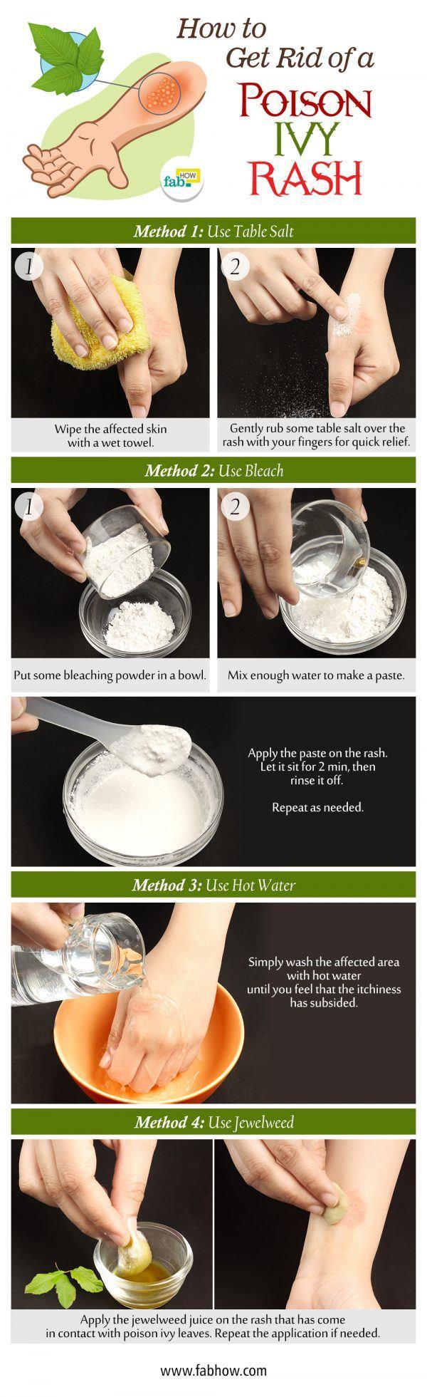 get rid of posion ivy rash