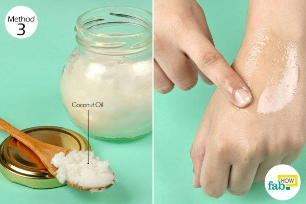massage coconut oil for keratosis pilaris