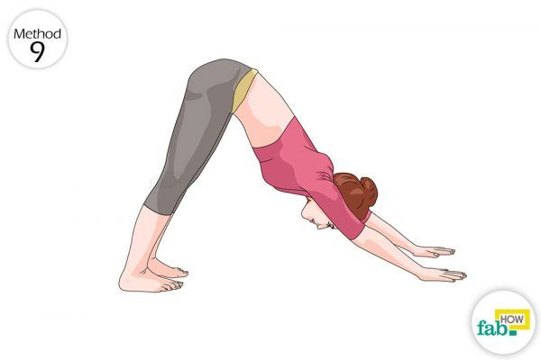 parvatasana for gas and bloating