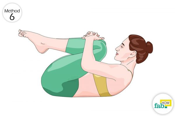 yoga pose for gas and bloating