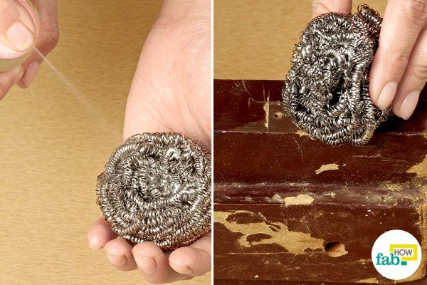 seal the holes with steel wool