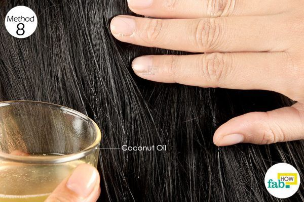 apply coconut oil before hair coloring