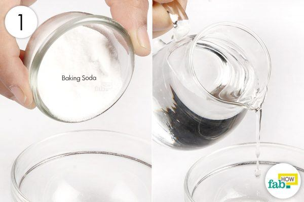 mix baking soda and water to clean gold
