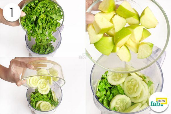 throw fruits and veggies in a blender to detoxify yoru body