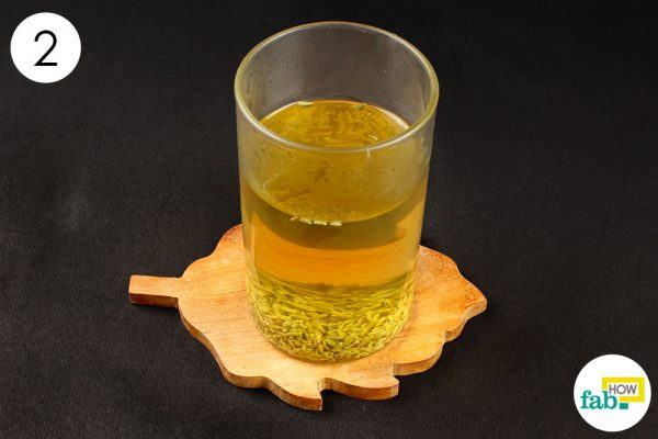 consume fennel seeds drink for gas and bloating