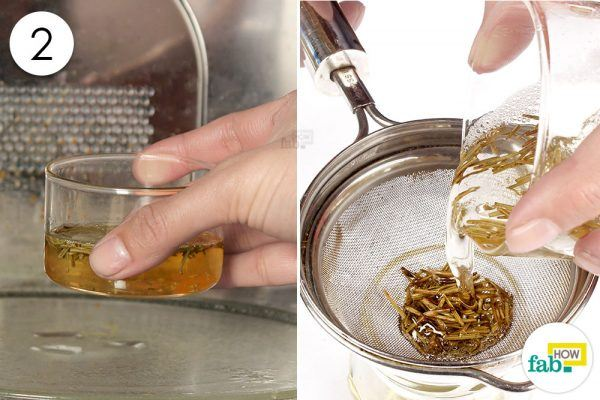 heat and strain the mixture for hair growth