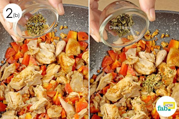 add oregano and basil