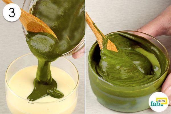 combine green tea and condensed milk