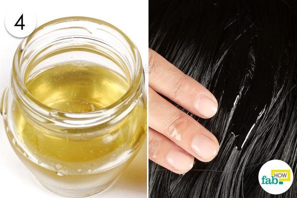 apply hot oil mask for hair growth