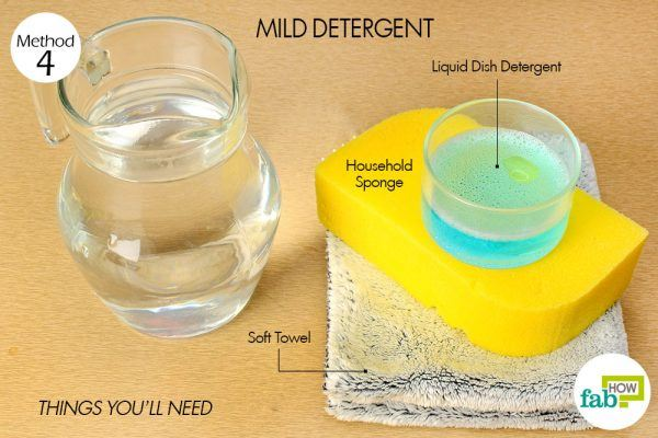 things you'll need to use mild detergent to remove red wine stain