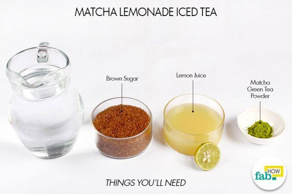 things you will need to make matcha lemonade