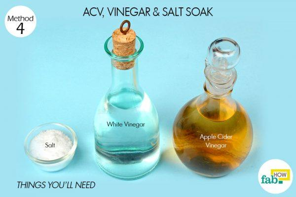 acv, vinegar and salt soak for yeast infection
