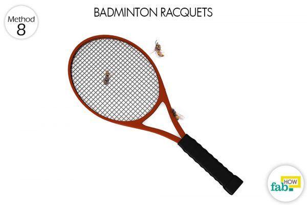 badminton racquets to trap carpenter bees