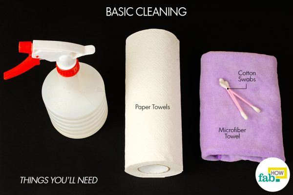 things need for cleaning cloudy mirrors