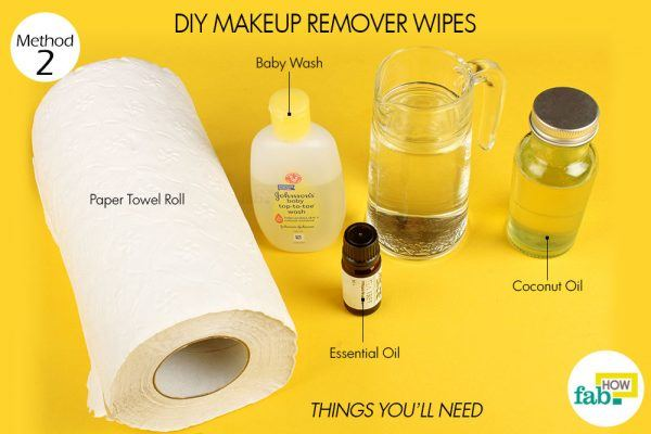 diy makeup remover things need