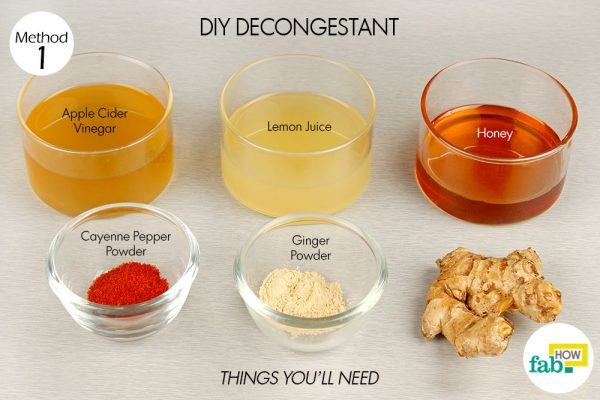 diy decongestant for chest congestion