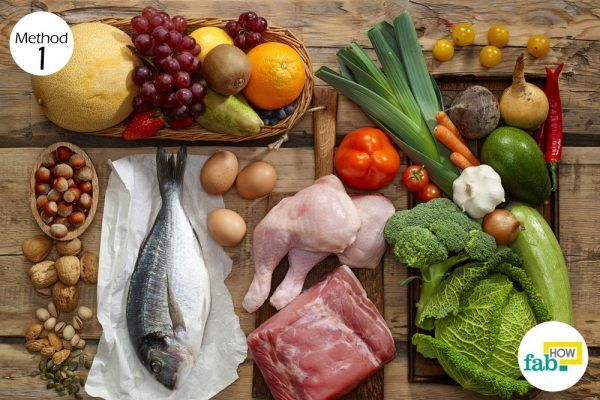 diet with helpful nutrients for keratosis pilaris