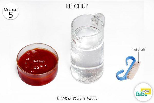 ketchup clean brassware things need