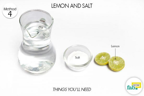 lemon salt clean brassware things need