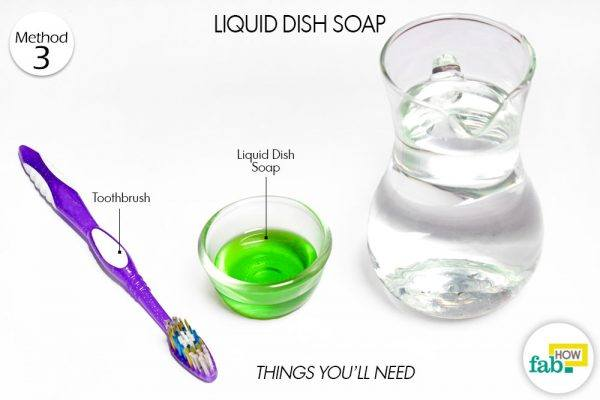 liquid dish soap clean brassware things need