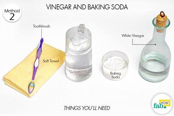 vinegar and baking soda clean brassware things need