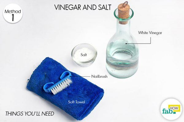 vinegar and salt clean brassware things need