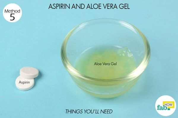 aspirin, aloe vera gel for back acne