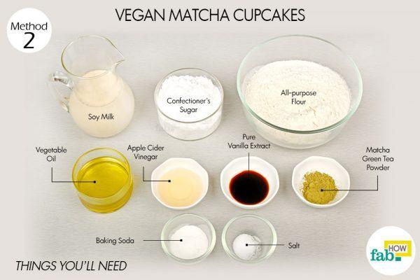 vegan matcha cupcakes