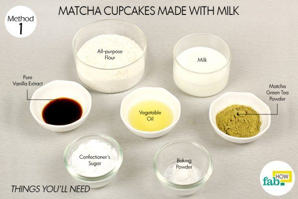 things need for matcha cupcakes