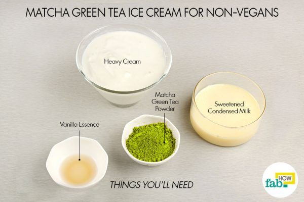 things you will need for matcha ice cream non-vegans